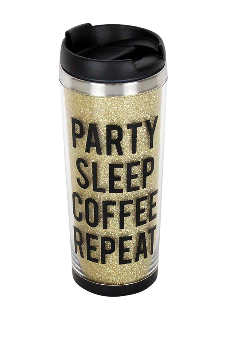 TMD | Party Sleep Coffee Repeat Glitter Tumbler | Nordstrom Rack