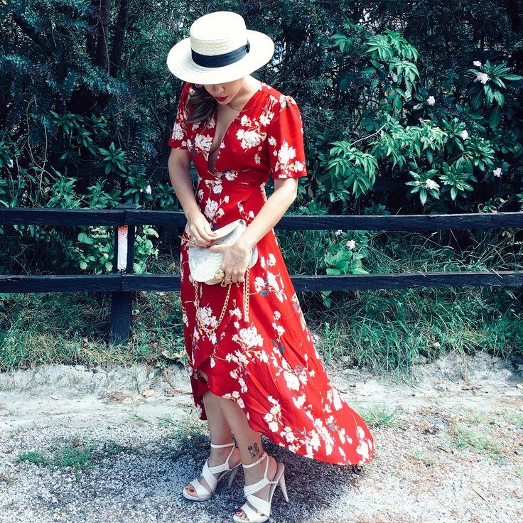 This dress & my canotier, match made in heaven ❣#canotierhat #canotier #weddingguest