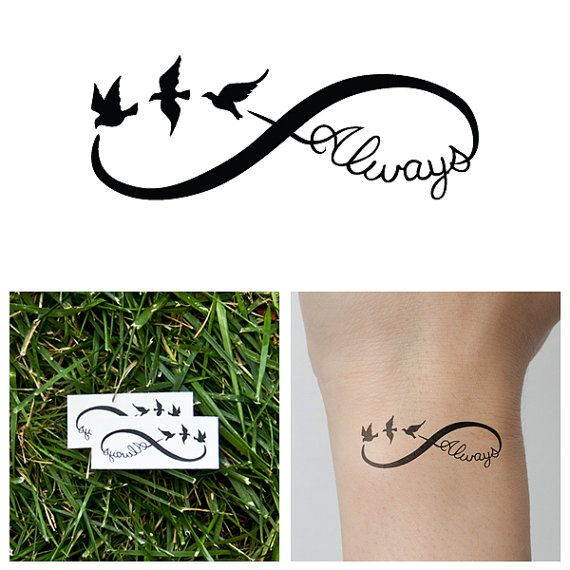 Infinity  Always  Temporary Tattoo Set of 2 by Tattify on Etsy, $5.00