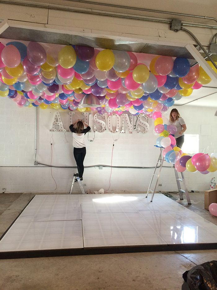 Best 25 balloon ceiling decorations ideas on pinterest for Balloon decoration ideas without helium