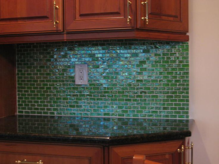 blue glass tile kitchen google search