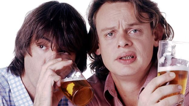 Possible VIP friends - Men Behaving Badly stars Martin Clunes and Neil Morrissey