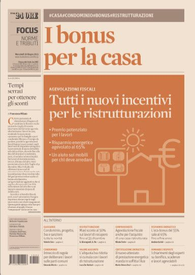 Speciale Sole 24 ore 19.06.2013 - I Bonus per la Casa  Italian | True PDF | 24 Pages | 16 MB