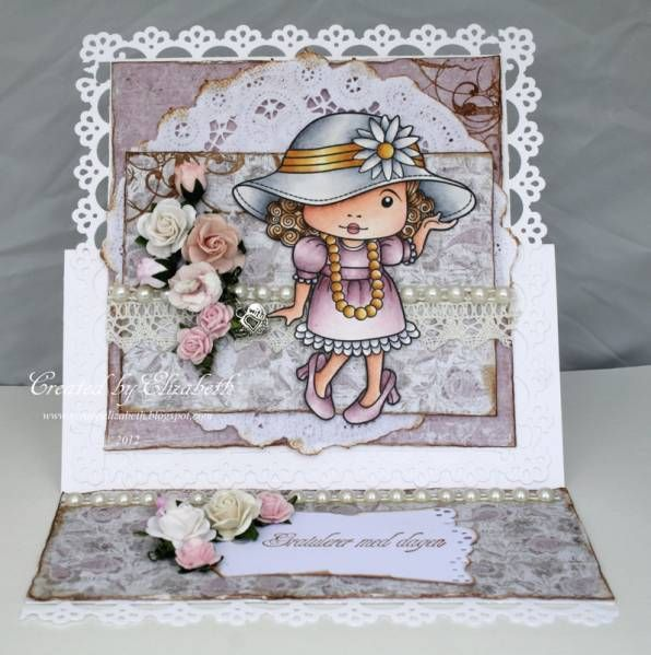 Dress Up easel card by ElizabethE - Cards and Paper Crafts at Splitcoaststampers