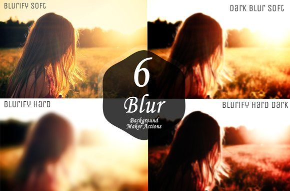 Blurred Background Maker Actions by Symufa on @creativemarket