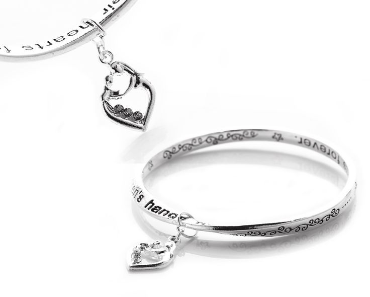 $16 for a Mother & Child Love Message Charm Bangle - Shipping Included!