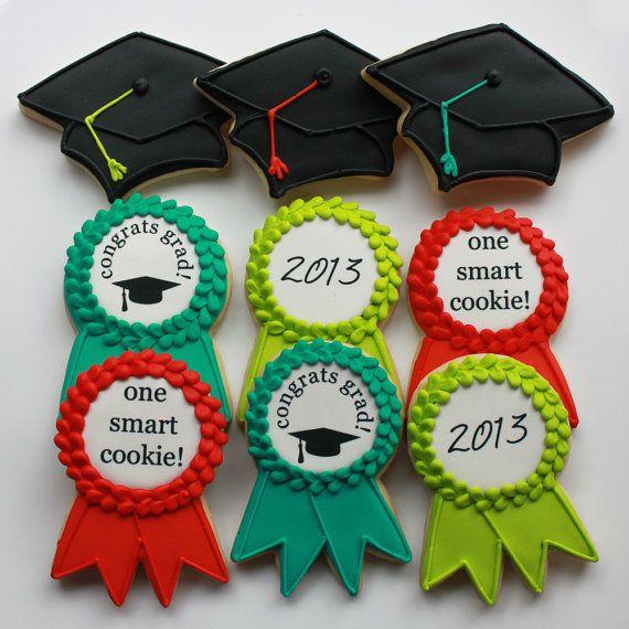 Deluxe Graduation 12-Cookie Gift Box (Vanilla) 1 Dozen - MADE TO ORDER