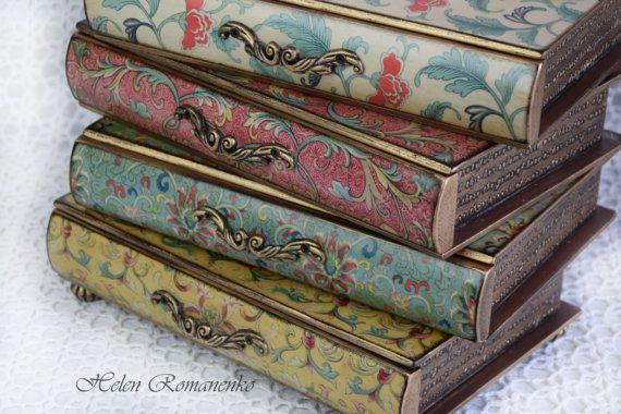 Mini commode-houten lade-sieraden opslag-make-up organisator-Jewelry Box-apotheker-Cabinet-Trinket of make-up opslag-vintage-bloem