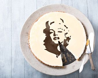 Marilyn Monroe Cake stencil cake- Round stencil for cake decoration. Serial number- R071. cakes design supplies