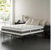 Night Therapy Set Spring 12 Inch Fusion Gel Memory Foam Hybrid Mattress and SmartBase Bed Frame - queen