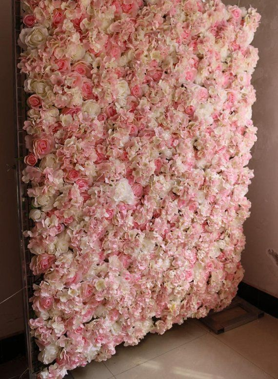 Baby Pink Wedding Flower Walls Wedding Backdrops Artifical Silk Rose Hydrangea Background For Romantic Wedding Photography Panels 40 60cm Baby Pink Wedding Flower Wall Wedding Pink Wedding Flowers