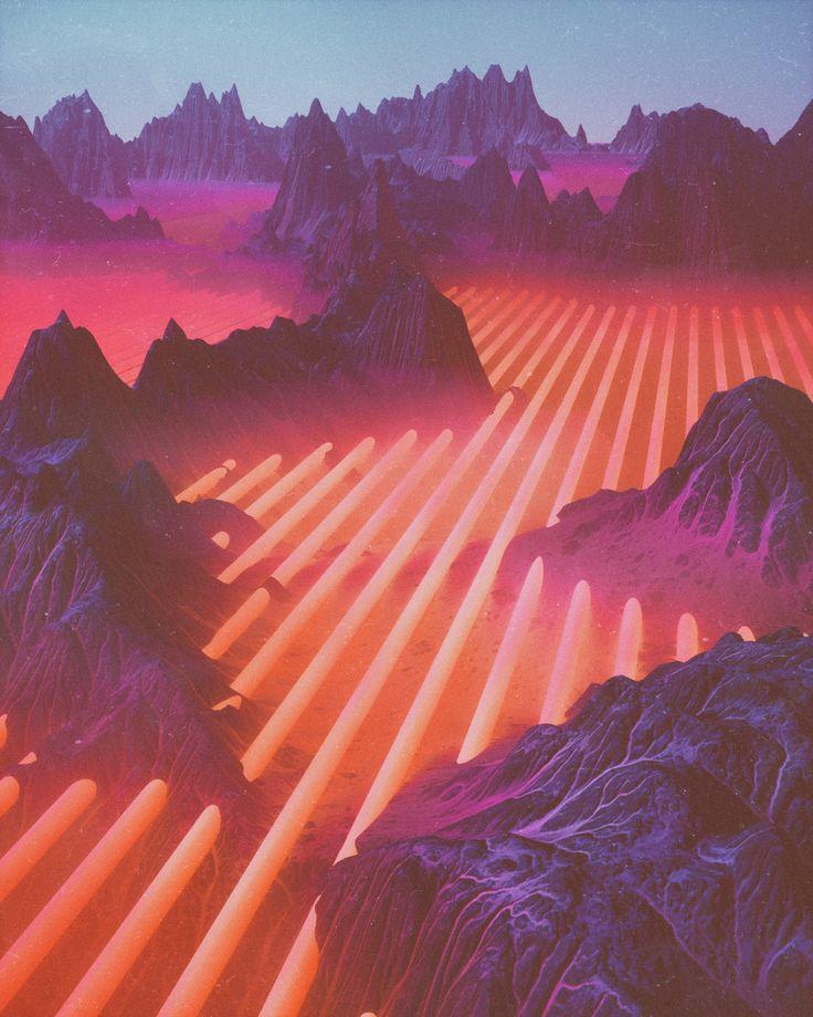 beeple: WINDCHILL # | Landscape concept, Landscape, Vaporwave