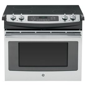 30-in Smooth Surface 4.4-cu ft Self-Cleaning Drop-In Electric Range (Stainless Steel)
