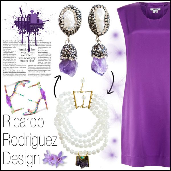 Ricardo Rodriguez Design 4 by gaby-mil on Polyvore featuring Helmut Lang, Liliana and ricardorodriguezdesign