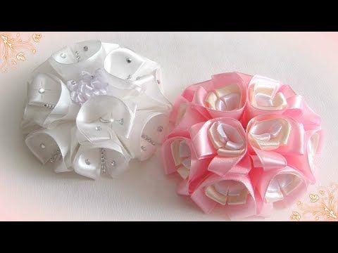 Rose of whole ribbon.Tutorial/ Rose de una cinta entera.CM/ Роза из цельной ленты.MK - YouTube