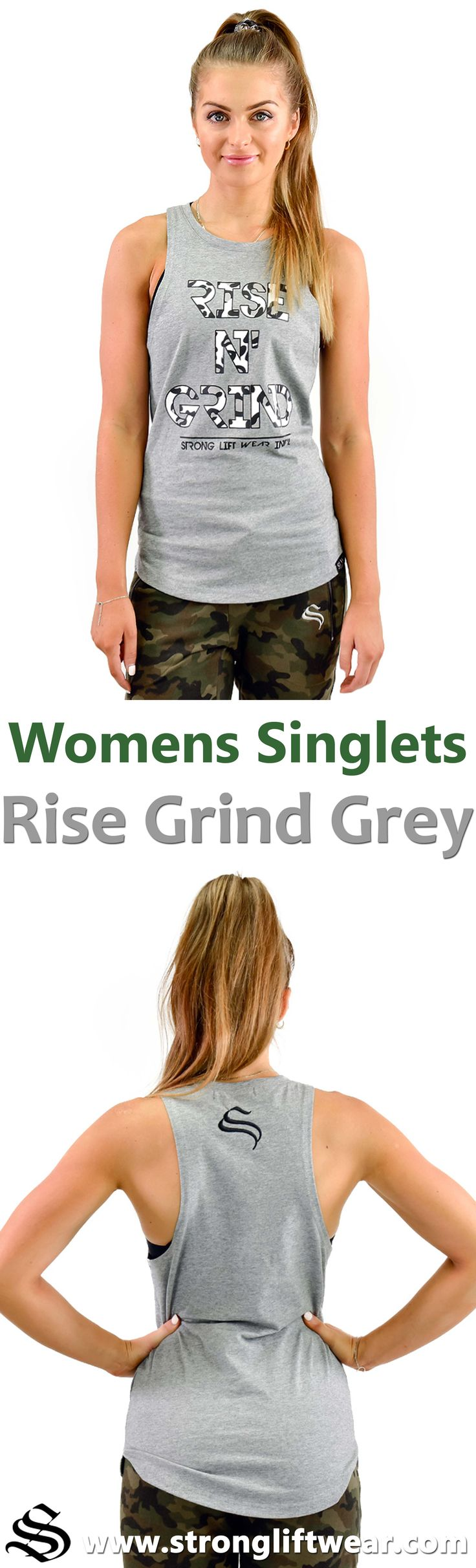Ladies boulder sleeveless - Rise n' Grind - Grey  The ever popular boulder series, tapered for the ladies :D │gym wear │fitness wear │fitness clothing │fitness │outfits │workout dress │gym outfits │workout outfits │shorts │hoodie │singlets │pants #gymwear #fitnesswear #fitnessclothing #fitness #outfits #workoutdress #gymoutfits #workoutoutfits #shorts #hoodie #singlets #pants
