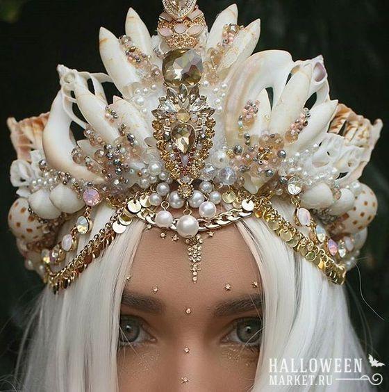 #crown #mermaid #makeup #costume #halloweenmarket #halloween  #морскаятема #русалка Корона и прическа русалки на хэллоуин (фото) Ещё фото http://halloweenmarket.ru/%d0%ba%d0%be%d1%80%d0%be%d0%bd%d0%b0-%d0%b8-%d0%bf%d1%80%d0%b8%d1%87%d0%b5%d1%81%d0%ba%d0%b0-%d1%80%d1%83%d1%81%d0%b0%d0%bb%d0%ba%d0%b8-%d0%bd%d0%b0-%d1%85%d1%8d%d0%bb%d0%bb%d0%be%d1%83%d0%b8%d0%bd/