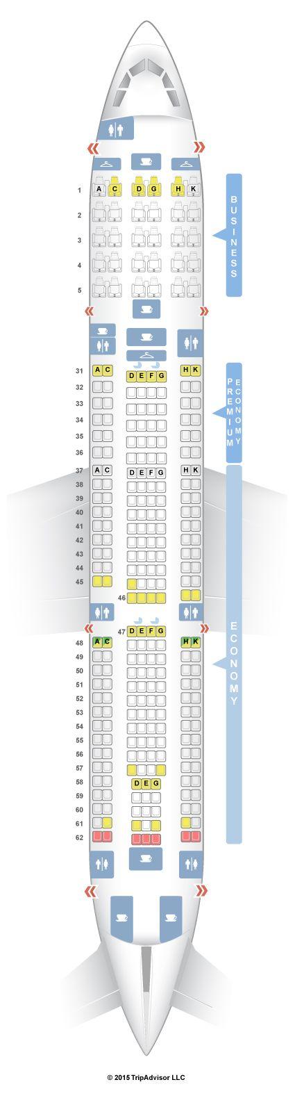 SeatGuru Seat Map China Southern Airbus A330-300 (333) V2