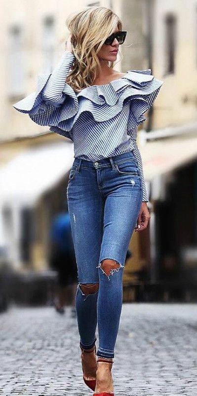 blusa con holanes