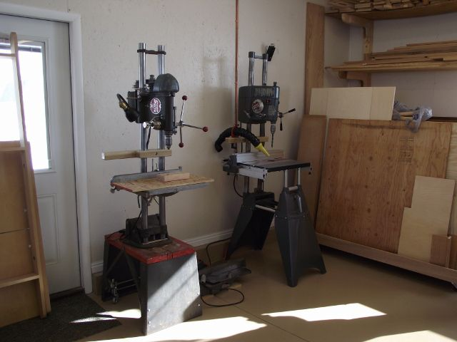 shopsmith 10er drill press. john burger\u0027s drill presses; notice the one on left is made from an old shopsmith 10er press j