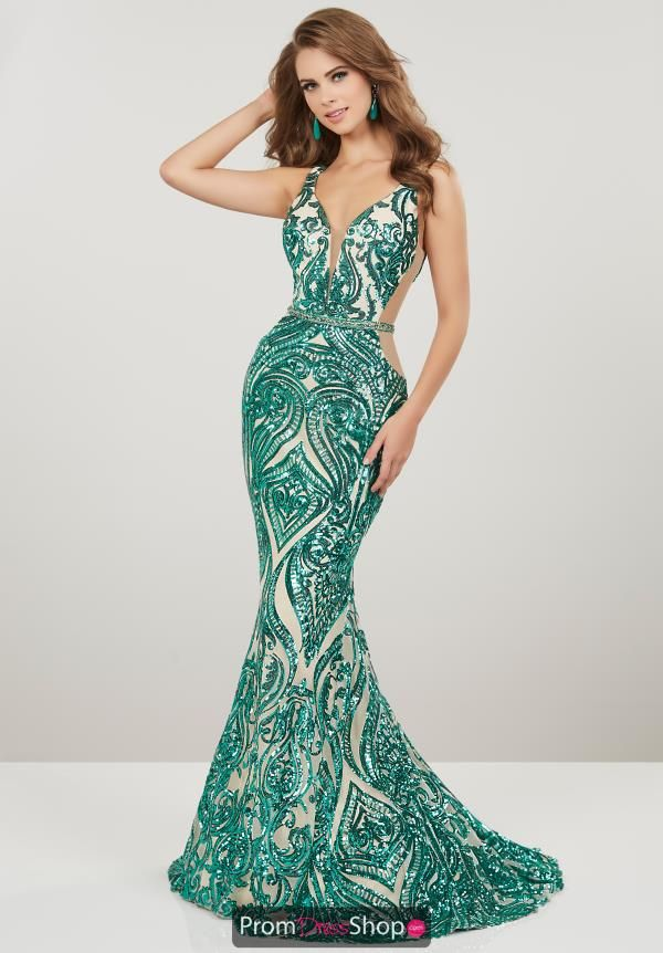 aef8f23bcb8 Be the talk of the night in this glistening Panoply prom dress 14916.  Featuring a