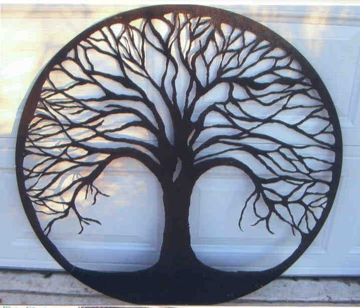 Tree Of Life Hand Cut Metal Powder Coat Finish Gorgeous Wall