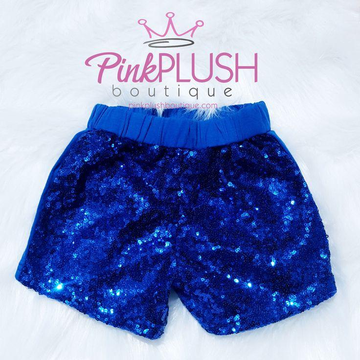 """Selah"" Blue Sparkle Shorts"