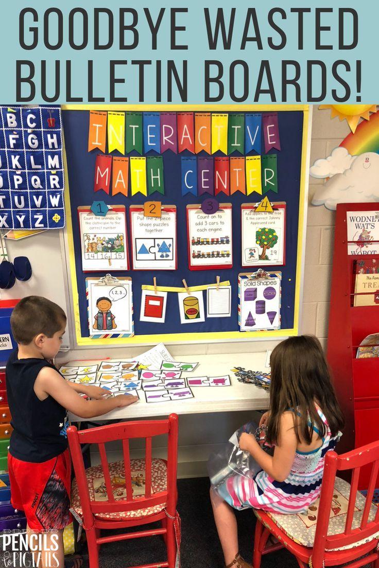 Goodbye Wasted Bulletin Boards – My Interactive Writing & Math Centers Organization & Setup Ideas Plus Teacher Hacks