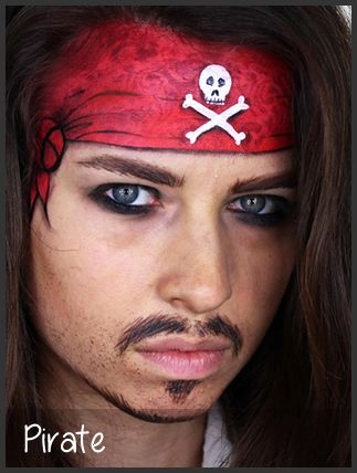 pirate face painting by mimicks