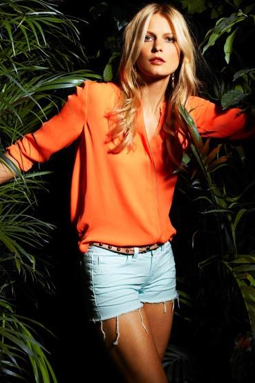 ALC blouse, J Brand shorts- intermix