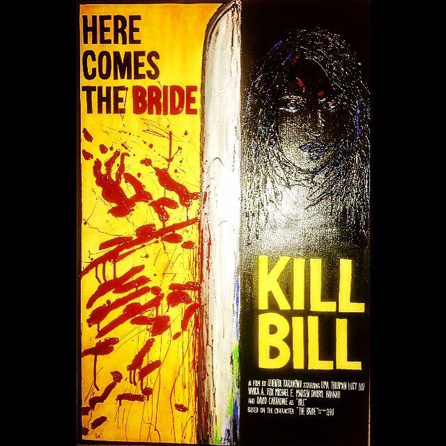 Kill Bill movie poster inspired painting