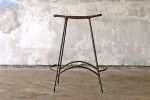 For Taking off Shoes - in entry way? Umanoff Wicker and Iron Side Saddle Stool - ONLINE ONLY