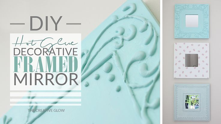 DIY Hot Glue Decorated Mirrors - Shabby Chic Look | The Creative Glow: DIY Hot Glue Decorated Mirrors - Shabby Chic Look. Using Martha Stewart  Multi-Purpose paint ( used for all types of surfaces. )