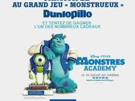 Dunloppilo organise un jeu concours gratuit à l'occasion de la sortie du film Monstres Academy.