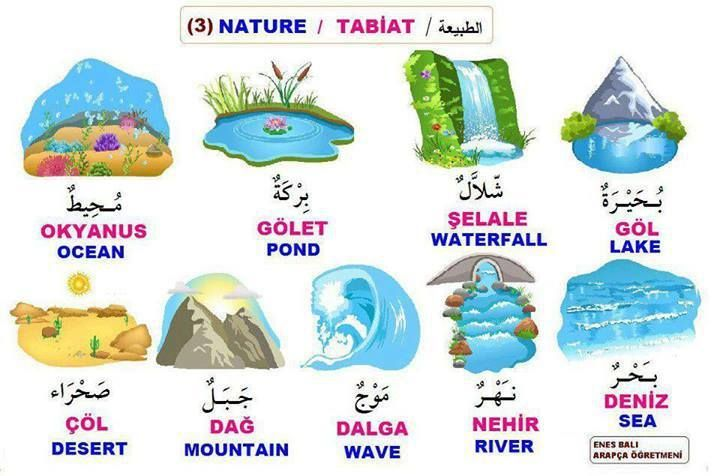 Nature words in arabic - الطبيعة