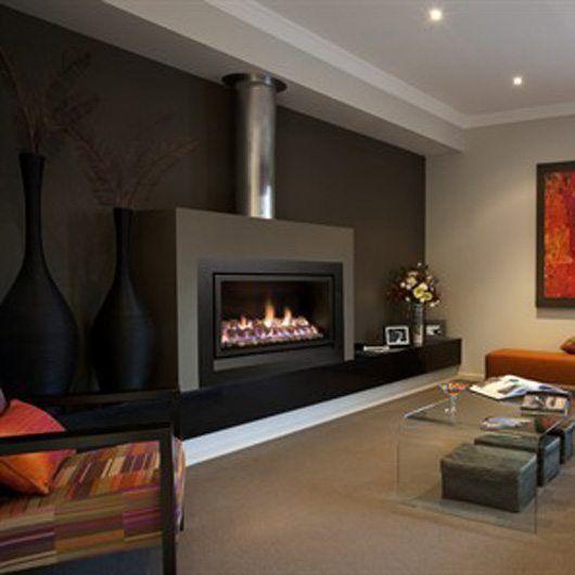 Heatmaster Enviro Gas Log/Coals/Pebbles Fire