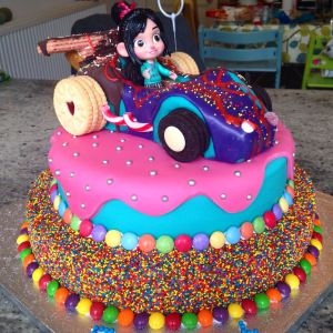 Vanellope von Schweetz Wreck It Ralph cake by Richard Burr