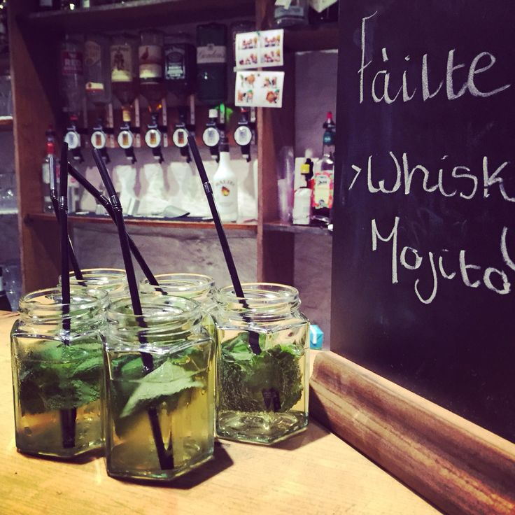 Whisky Mojitos as welcome drinks - yummy!