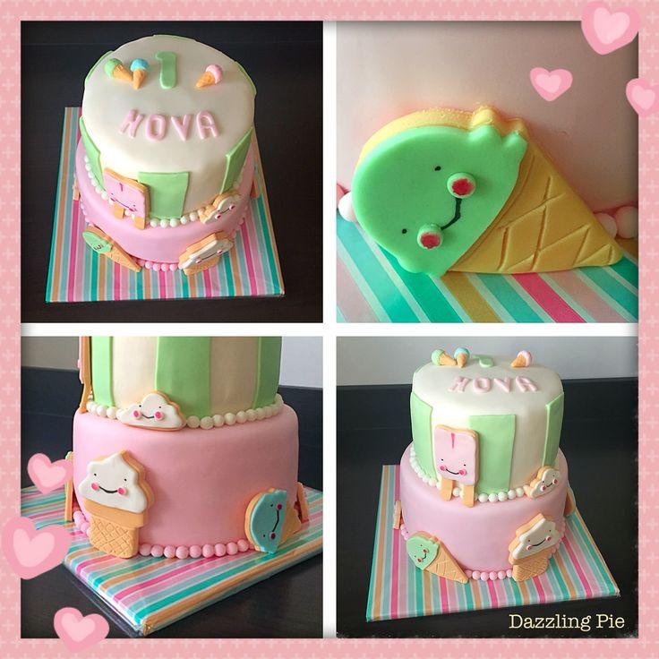 Ice cream cake made by Dazzling Pie