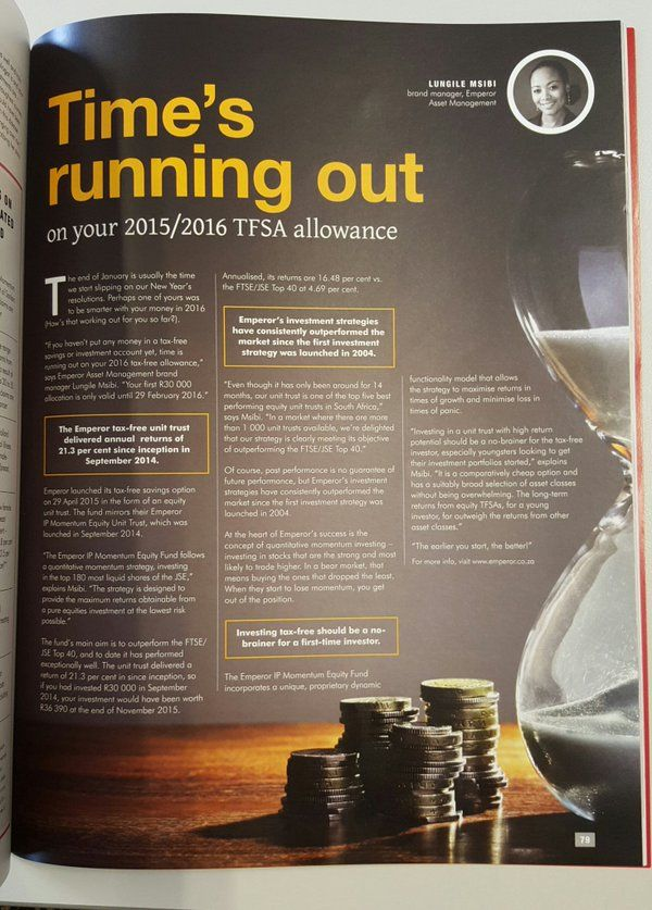 My TFSA piece on Risk Africa  Lungile Msibi