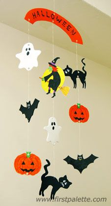 Halloween Mobile Craft | Kids' Crafts | FirstPalette.com