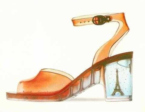Chaussure transparente Patrick Cox.