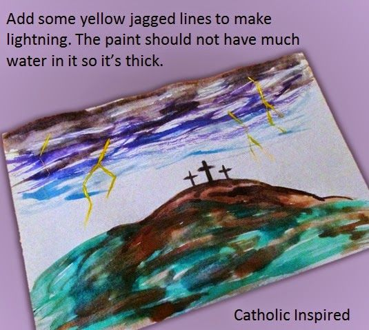 Good Friday Watercolor Art {Tutorial} - Catholic Inspired