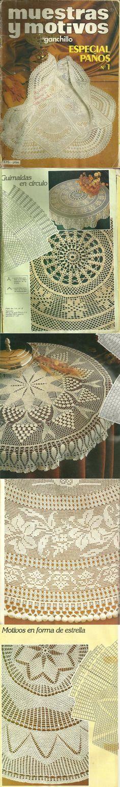 Очень красивые круглые скатерти крючком MYM Panos 1.