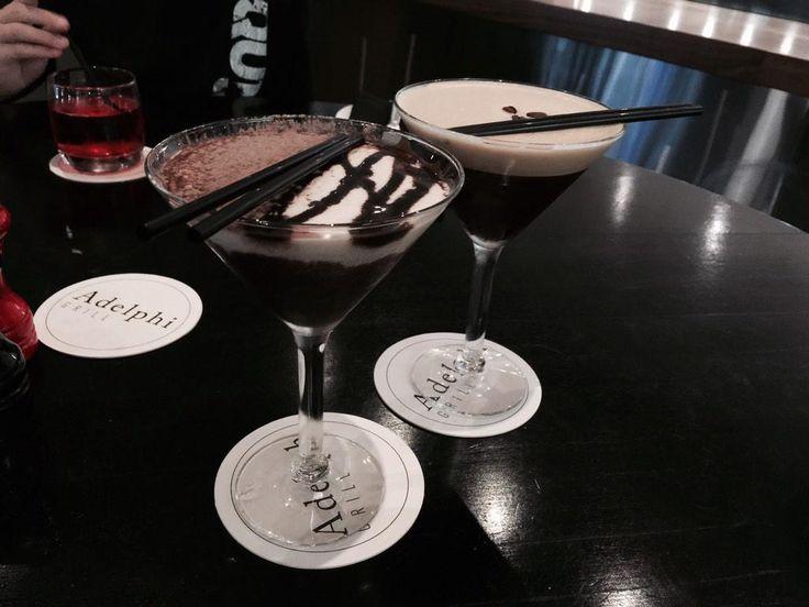 Espresso Martini & Toblerone at the Adelphi Grill at the Parmelia Hilton in Perth, Western Australia
