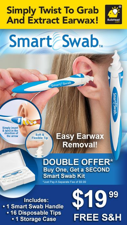 Smart Swab safe and effective ear wax removal