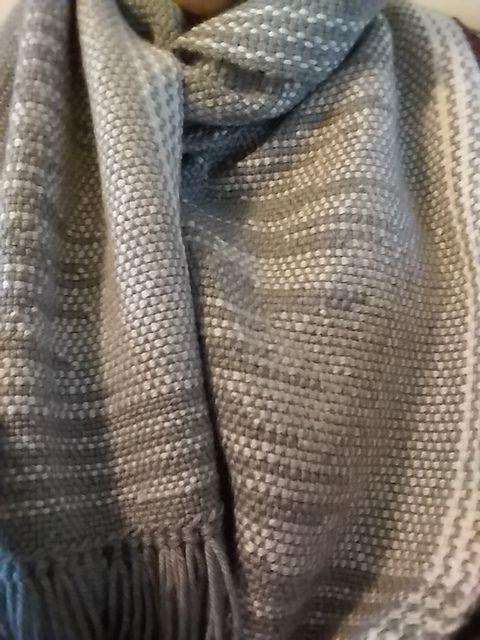 Ravelry: emilie1116's Clasped Weft scarf – using #…