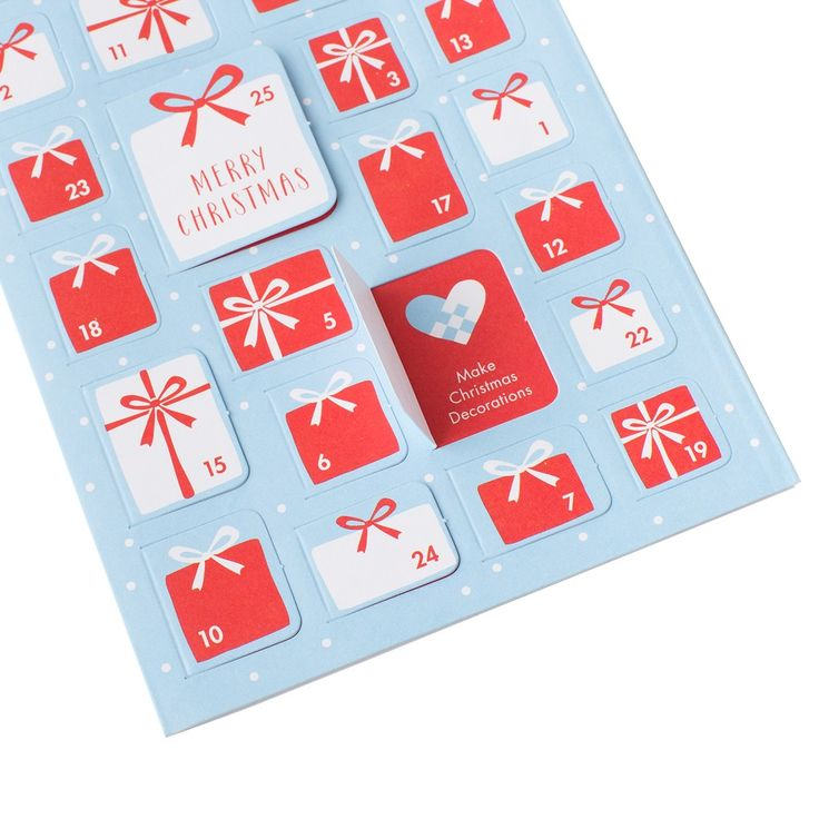 #kikkik Share the joy of counting down to #Christmas with this unique Advent Calendar Card. #uniquecards #wonderfulchristmas
