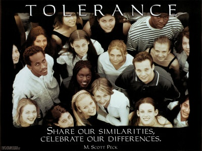 """The National Institute for Drug Abuse picture, Morgan Scott Peck, a psychiatrist and best-selling author of The Road Less Traveled, has a different definition: """"Share our similarities, celebrate our differences."""""""