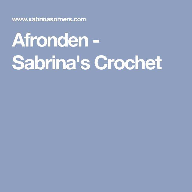 Afronden - Sabrina's Crochet
